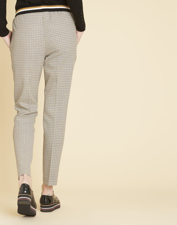 Halva check trousers with contrasting belt (4) - 1-2-3