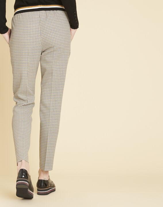 Pantalon à carreaux ceinture contrastante Halva (4) - 1-2-3