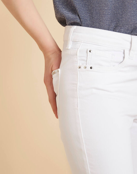 Vendôme white slim-cut 7/8 length jeans PhotoZ   1-2-3