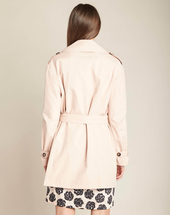 Klaudine double-breasted pink trench coat (4) - 1-2-3