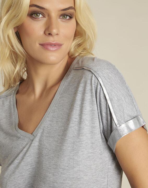 Tee-shirt gris détails épaules Glitter (3) - 1-2-3