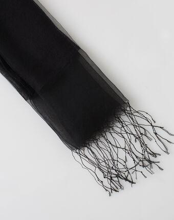 Etole noire en soie maeva noir.