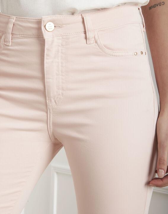 Jeans in hellem Pink aus Baumwollsatin im Slim-Schnitt Vendome (3) - Maison 123
