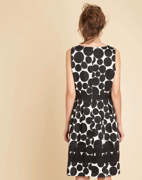 Isis black polka dot printed dress (4) - 1-2-3