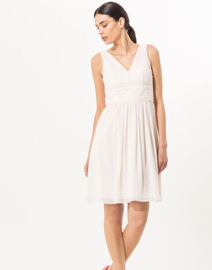 Puderfarbenes schwungvolles Kleid Freedom (2) - 1-2-3