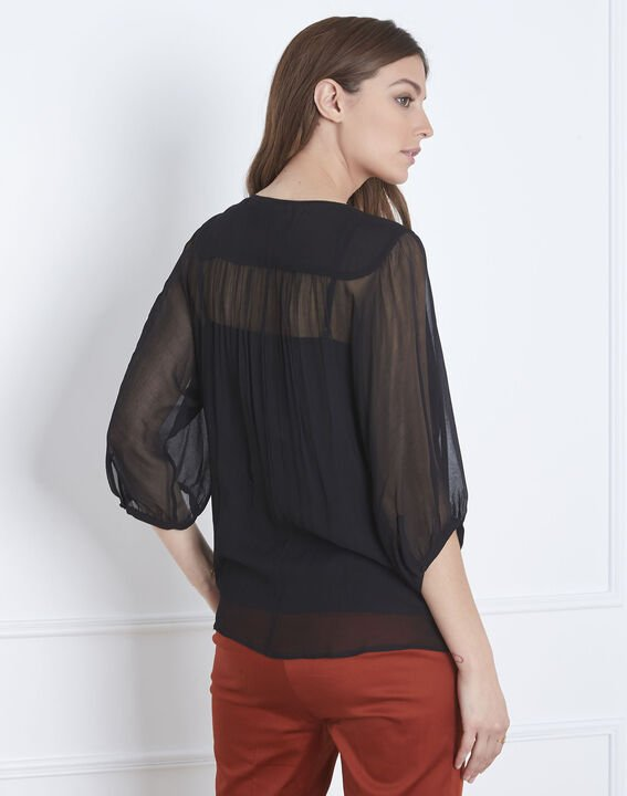 Valentine black lace blouse with tassels (4) - 1-2-3