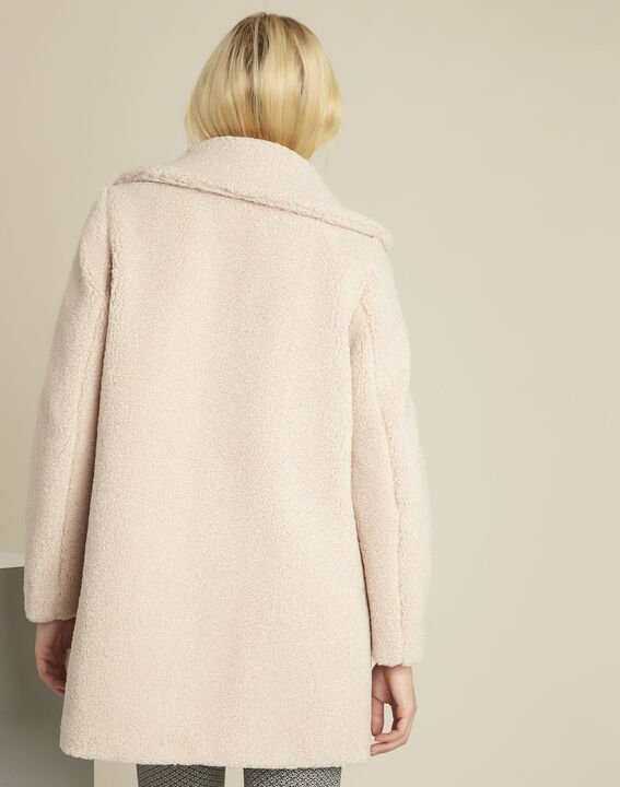 Elvire nude coat with boiled wool look (4) - 1-2-3