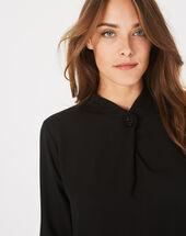 Schwarze hemdbluse mit schmuckdetail darling schwarz.
