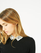 Pretty black sweater with stylish neckline black.