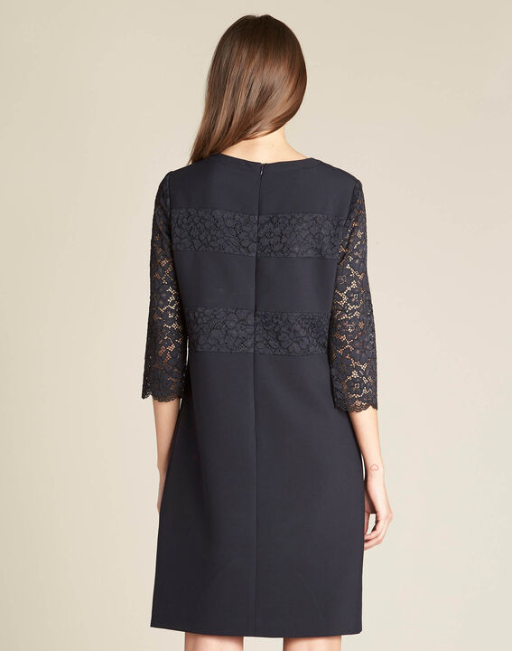 Polly navy blue lace dress (4) - 1-2-3