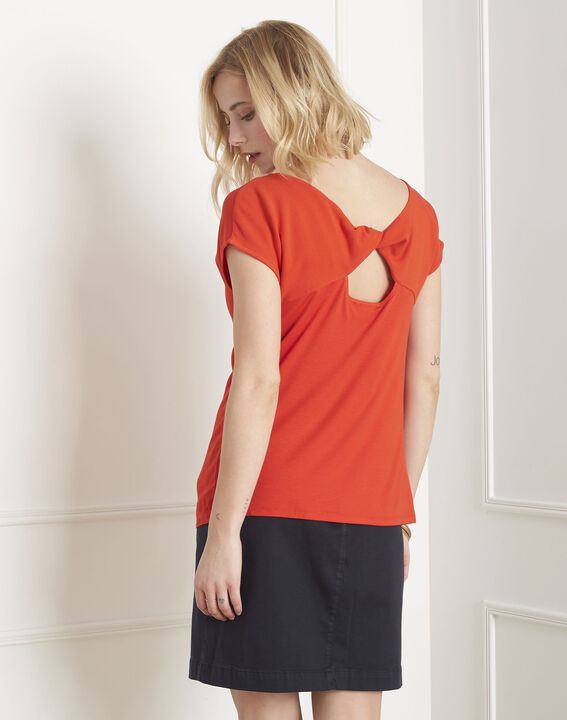 Tee-shirt corail encolure dentelle Passion (3) - Maison 123