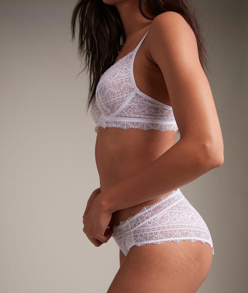 Culotte en dentelle de coton responsable blanche Ella PhotoZ | 1-2-3