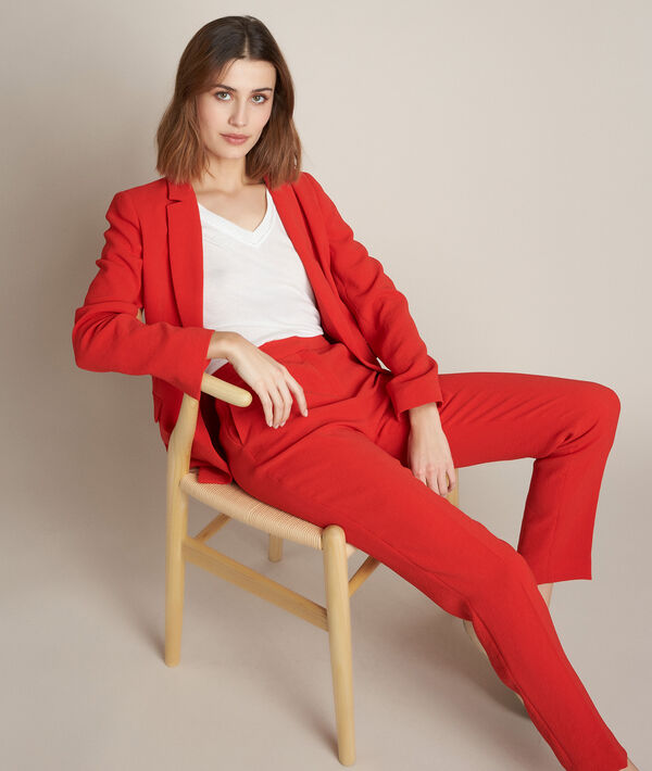 Veste en crêpe rouge Lisa PhotoZ | 1-2-3