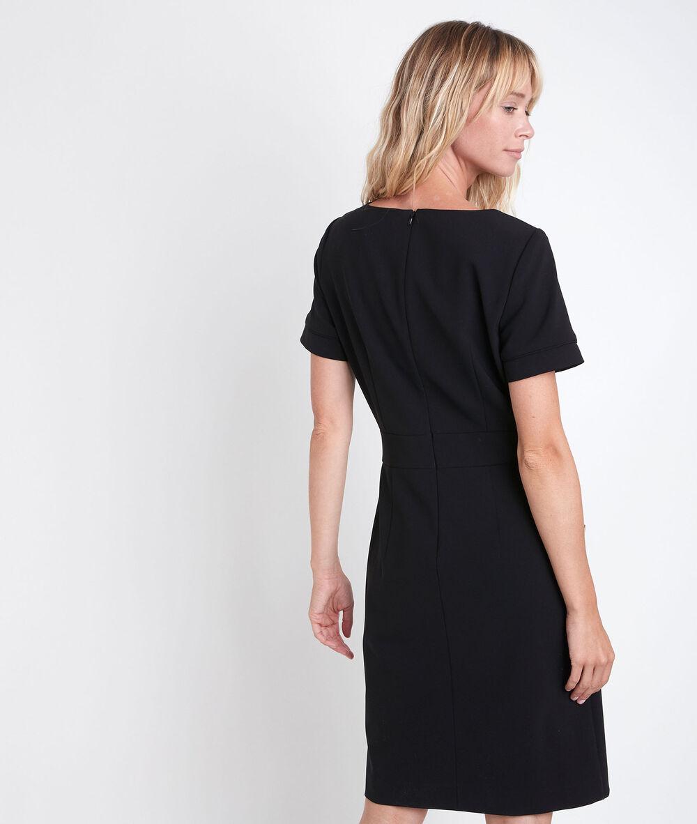 schwarzes kleid aus mikrofaser capucine damen   maison 123