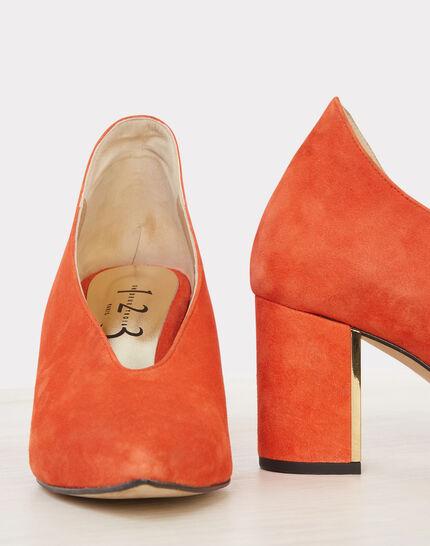 Escarpins orange en cuir Naomi (2) - 1-2-3