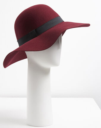 Uriel red wool hat dark red.