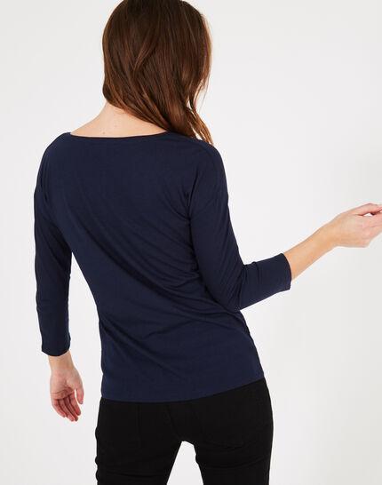 Tee-shirt marine imprimé Baroque (3) - 1-2-3