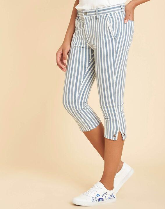 Gestreifte Jeans-Caprihose Very (3) - 1-2-3