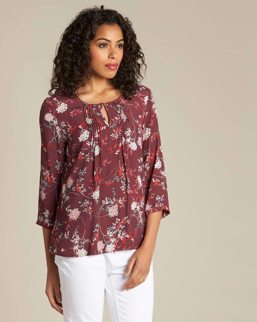 Bordeauxrode blouse met print Anouchka (2) - 37653