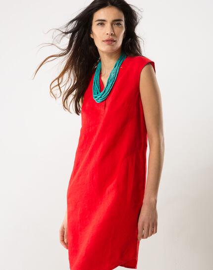 Bellini red linen dress PhotoZ | 1-2-3