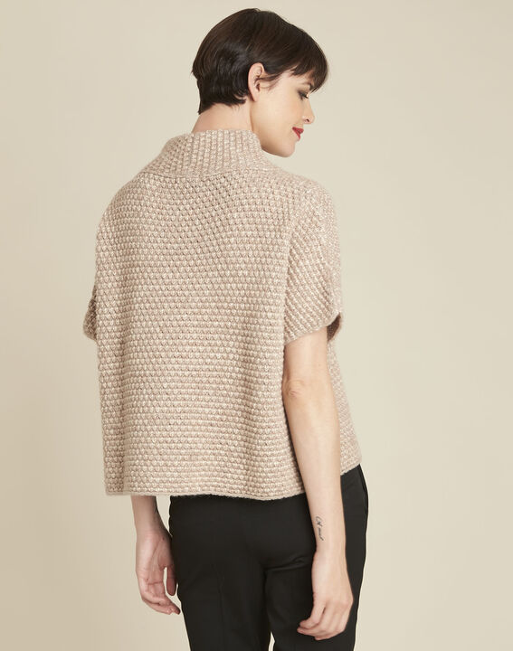 Bami beige high collar wool mix pullover (4) - 1-2-3