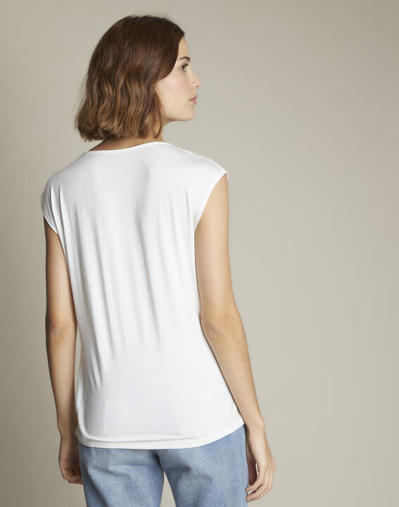 Neptune V-neck beige blouse (4) - 1-2-3