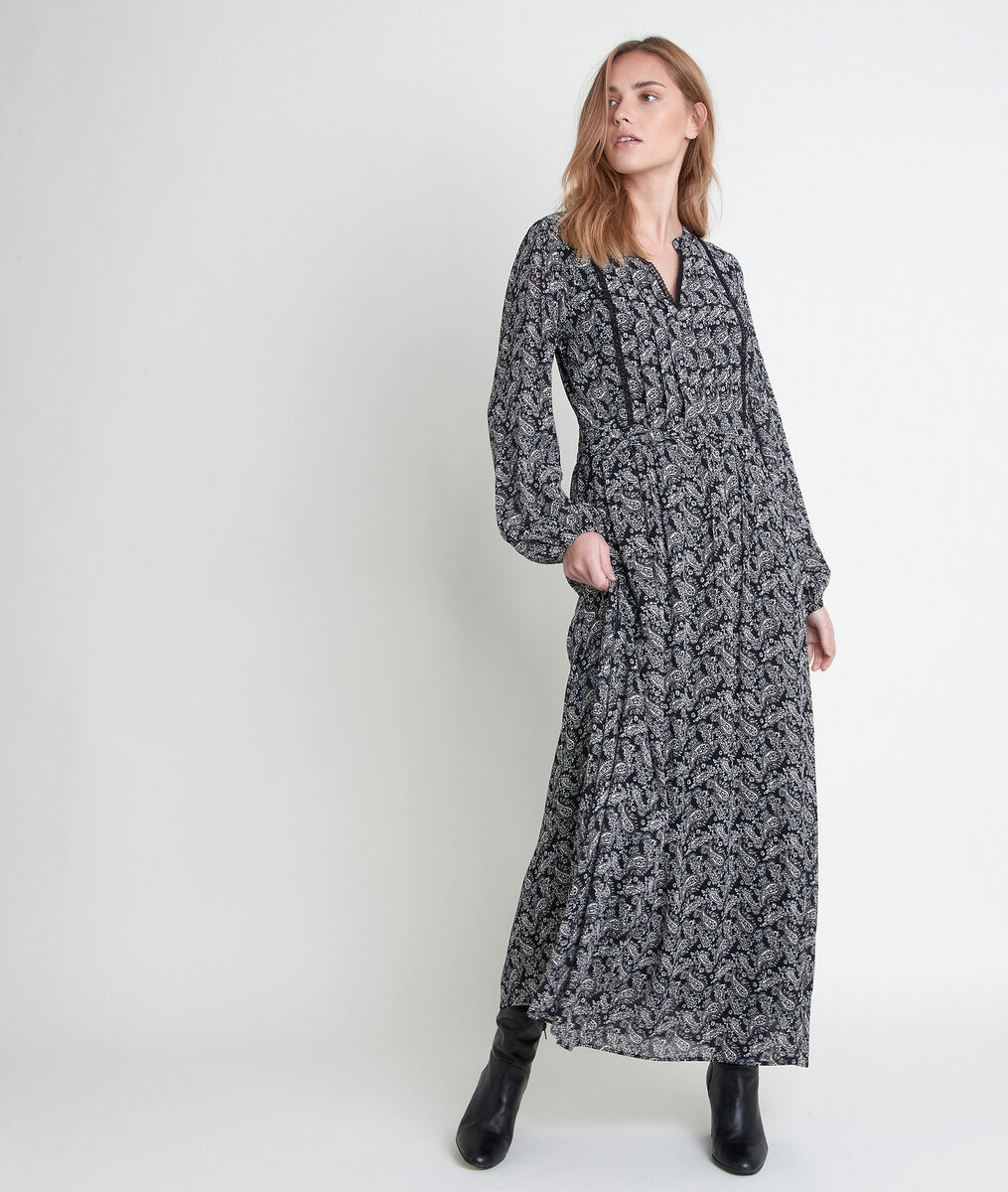Langes Kleid mit Kaschmirmuster Lea PhotoZ | 1-2-3