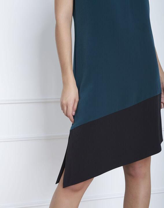 Asymmetrisches Kleid in Dunkelgrün Horline (3) - Maison 123