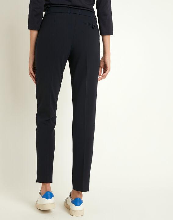 Pantalon de tailleur marine à pinces Valero (4) - 1-2-3