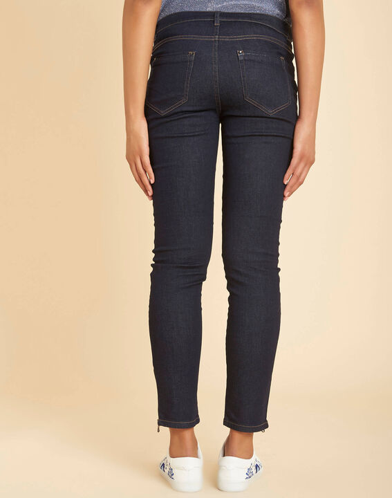 Marineblaue Slim-Fit-Jeans normale Leibhöhe Opéra (4) - 1-2-3