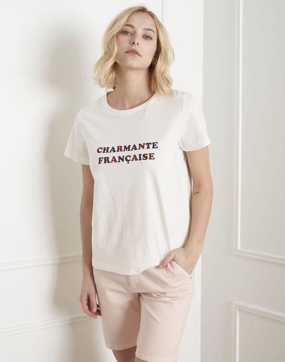 Tee-shirt écru imprimé Parmante PhotoZ | 1-2-3