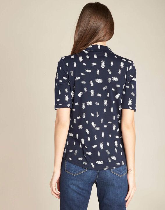 Enanas pineapple navy blue printed polo shirt (4) - 1-2-3