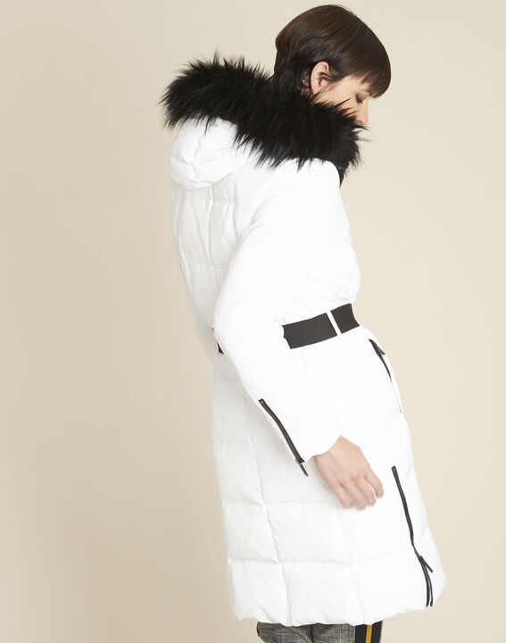 Pipa long white hooded down jacket (4) - Maison 123