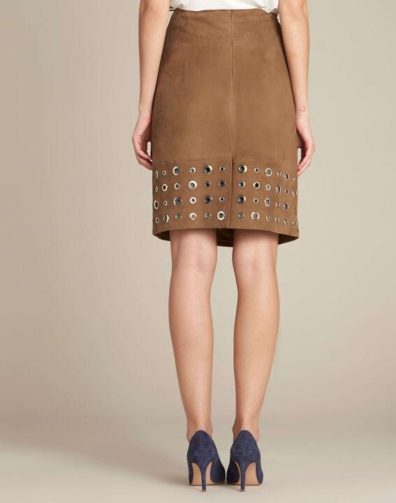 Lilou khaki suede skirt (4) - 1-2-3