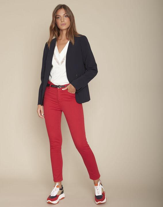 L'iconique : slim satin de coton rouge Sultan PhotoZ | 1-2-3