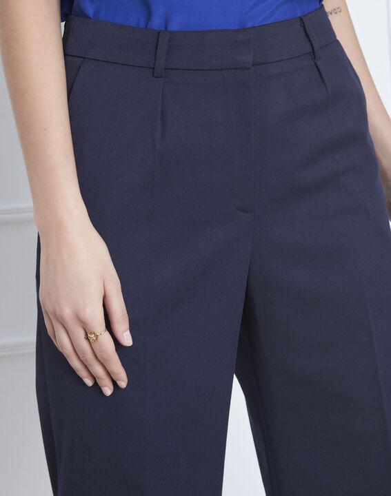Pantalon bleu large à plis Gabin (3) - Maison 123