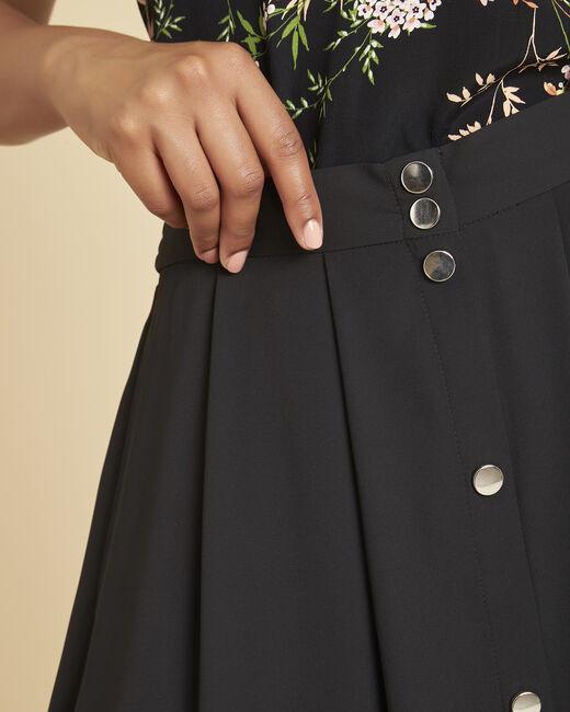 Jupe noire longue à boutons Lilea (2) - 1-2-3