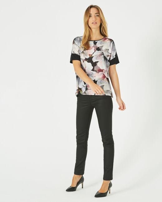 Tee-shirt noir imprimé fleurs Blush (1) - 1-2-3