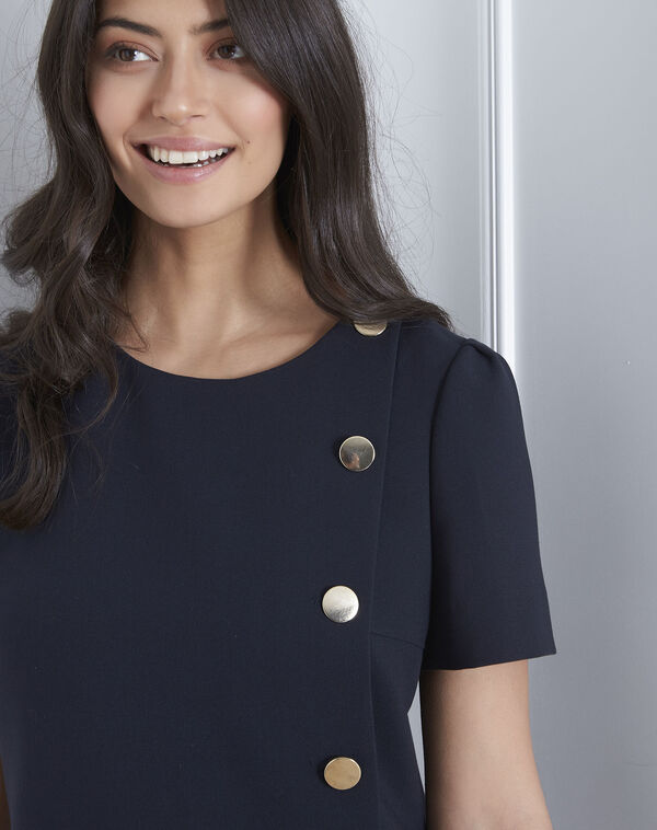 Defi navy dress with big buttons (2) - Maison 123 ... 148e4fa01