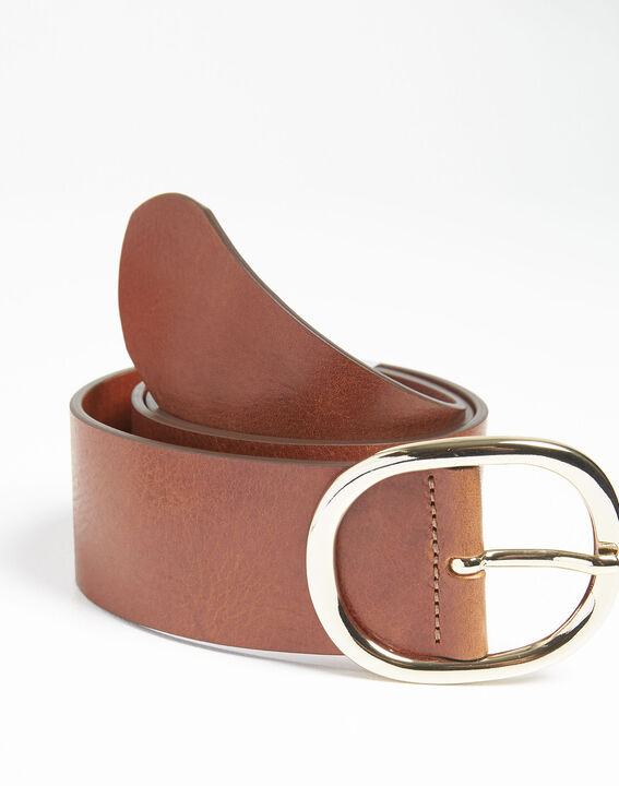 Ceinture marron large en cuir Quesia (2) - 1-2-3