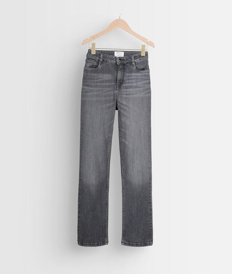 Donkergrijze straight-fit jeans van biokatoen Sonia PhotoZ   1-2-3