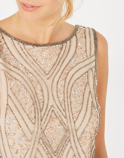 Floride nude embroidered dress (4) - 1-2-3