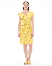 Robe jaune imprimée ontario citron.