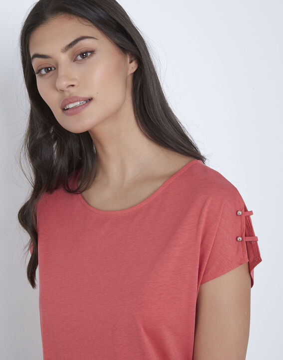 Tee-shirt rose détails épaules Palmbeach (3) - Maison 123
