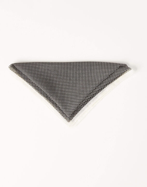Astree black square scarf with polka dots (2) - 1-2-3