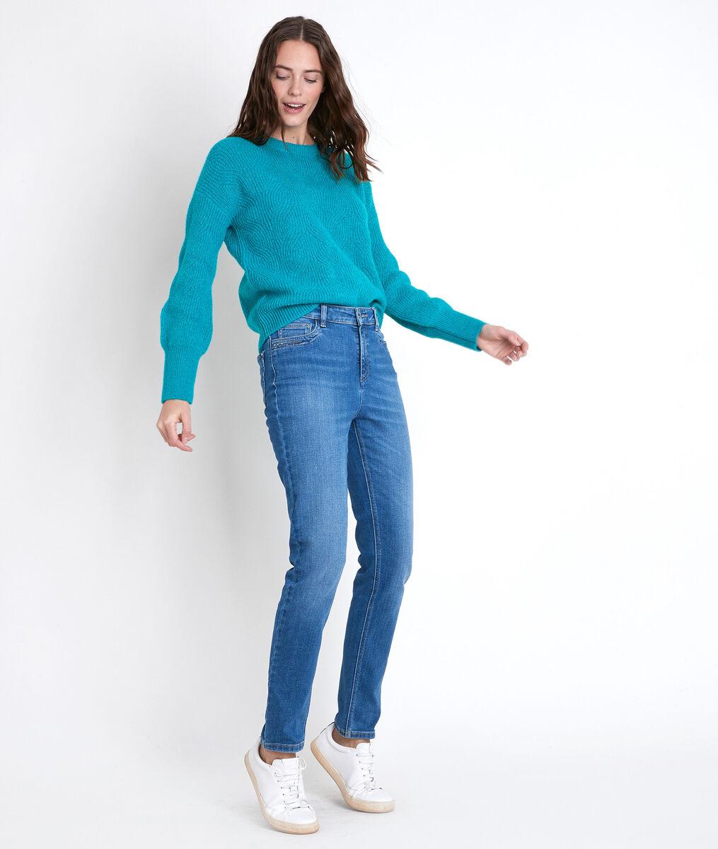 Pull en laine responsable turquoise Aleka PhotoZ | 1-2-3