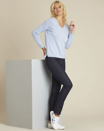 Boogie azure blue wool cashmere pullover sky blue.