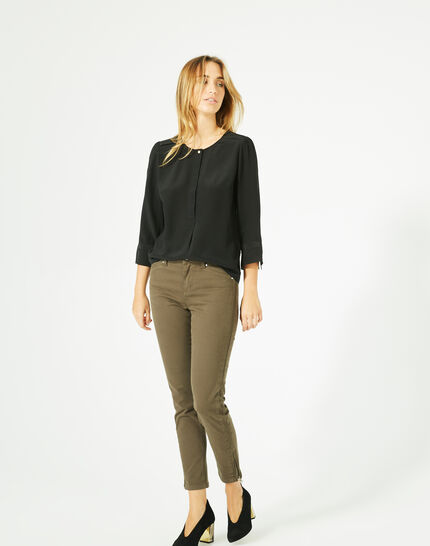 Dorothée black silk blouse (5) - 1-2-3