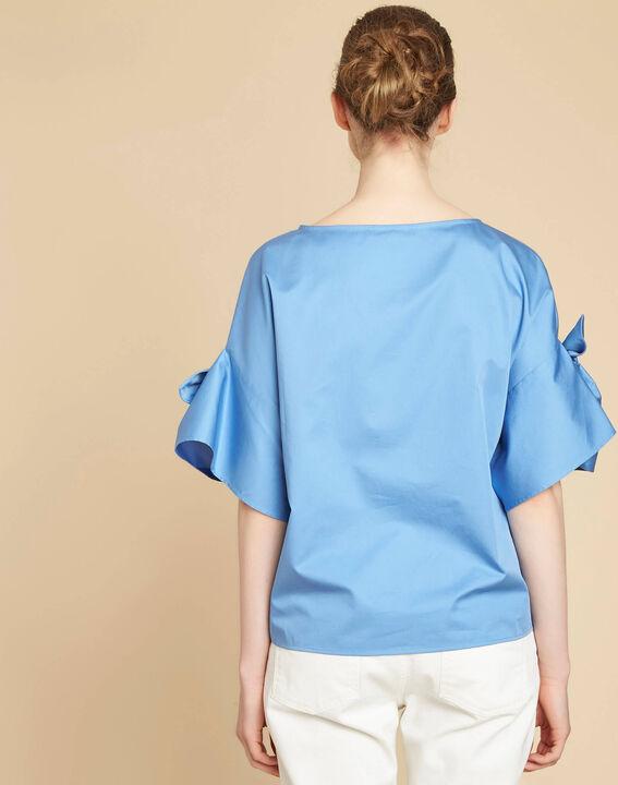 Garibaldi sky blue blouse with decorative sleeves (4) - 1-2-3