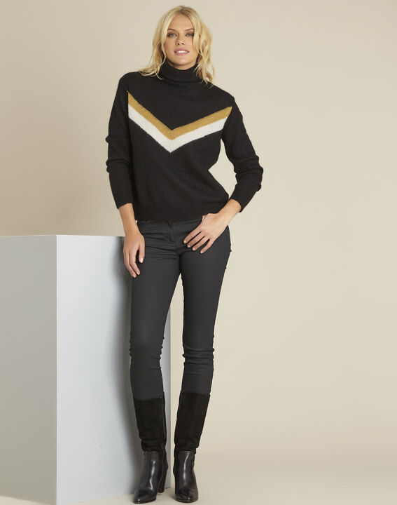 Bronze black turtleneck alpaca mix pullover (2) - 1-2-3